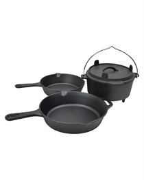 CAST IRON PAN COOKWARE SET