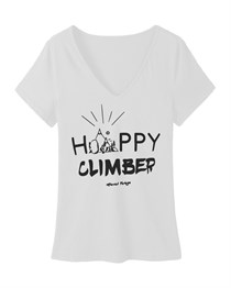HAPPY CLIMBER WOMEN T-SHIRT WHITE